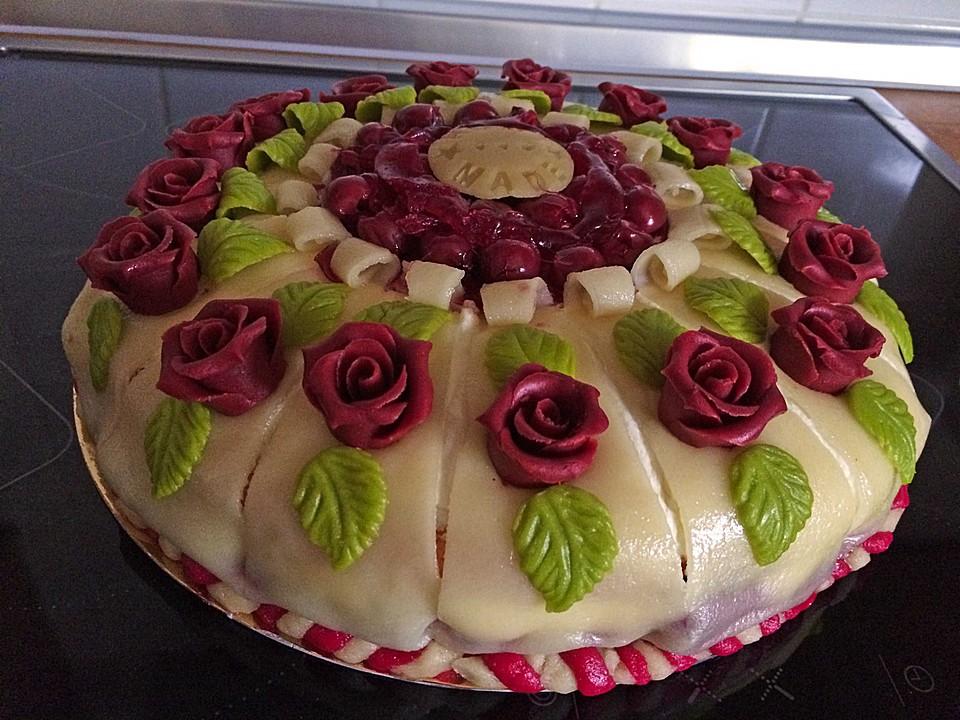 Kirsch marzipan torte rezepte - Torten dekorieren mit marzipan ...