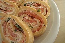 Lachs - Pfannkuchen - Röllchen