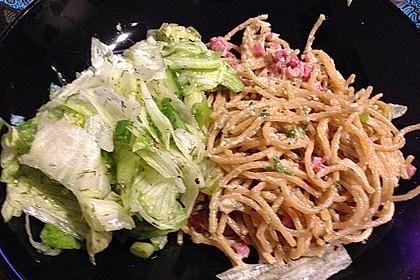 Spaghetti carbonara mit Speck und Petersilie 39