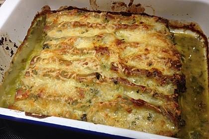 Feuermohns gefüllte Lachs Spinat Cannelloni 7