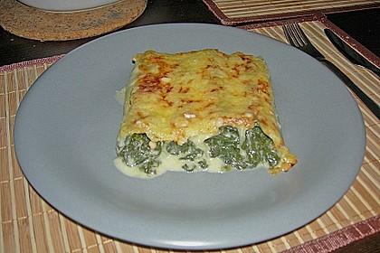 Feuermohns gefüllte Lachs Spinat Cannelloni 8