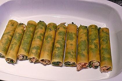 Feuermohns gefüllte Lachs Spinat Cannelloni 15