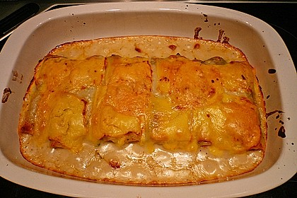 Feuermohns gefüllte Lachs Spinat Cannelloni 5