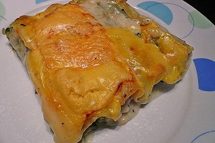 Feuermohns gefüllte Lachs Spinat Cannelloni 9