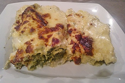 Feuermohns gefüllte Lachs Spinat Cannelloni 6