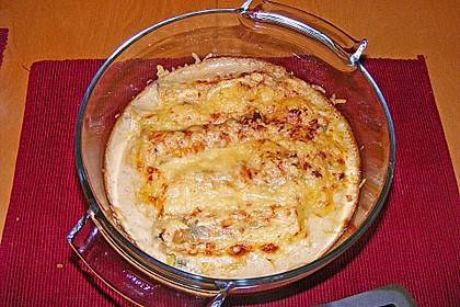 Feuermohns gefüllte Lachs Spinat Cannelloni 14