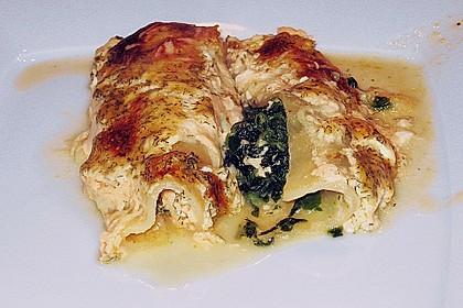 Feuermohns gefüllte Lachs Spinat Cannelloni 1