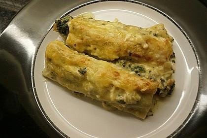 Feuermohns gefüllte Lachs Spinat Cannelloni 4