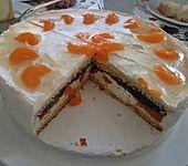 Mohn - Mascarpone - Torte mit Mandarinen