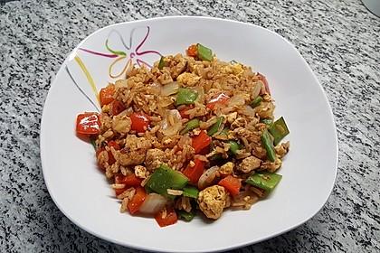 Gebratener Reis mit Hühnchen 10