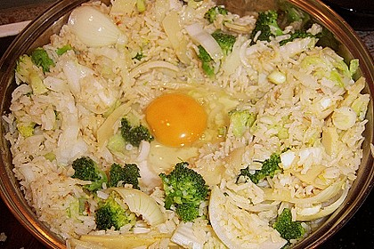 Gebratener Reis mit Hühnchen 3