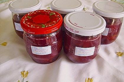 Pflaumen in Rotwein 1