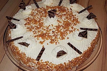 Kirsch bananen sahne torte