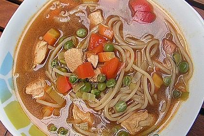 Asiatische Hühner - Nudelsuppe 3
