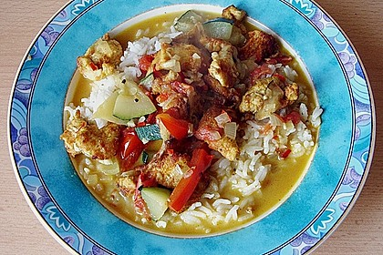 Urmelis Hähnchenbrust in Zucchini - Curry - Sahne - Sauce 46