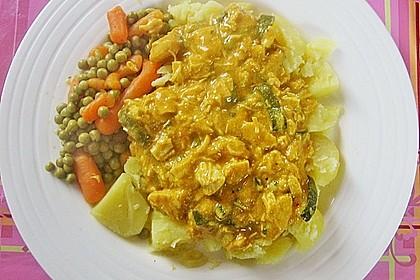 Urmelis Hähnchenbrust in Zucchini - Curry - Sahne - Sauce 45