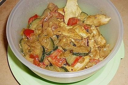 Urmelis Hähnchenbrust in Zucchini - Curry - Sahne - Sauce 58