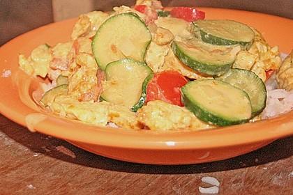 Urmelis Hähnchenbrust in Zucchini - Curry - Sahne - Sauce 67