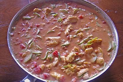 Urmelis Hähnchenbrust in Zucchini - Curry - Sahne - Sauce 60
