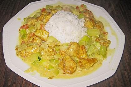 Urmelis Hähnchenbrust in Zucchini - Curry - Sahne - Sauce 52