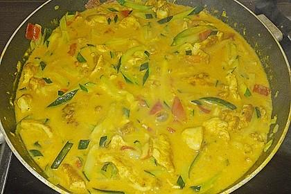 Urmelis Hähnchenbrust in Zucchini - Curry - Sahne - Sauce 61
