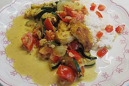 Urmelis Hähnchenbrust in Zucchini - Curry - Sahne - Sauce 4
