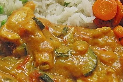 Urmelis Hähnchenbrust in Zucchini - Curry - Sahne - Sauce 37