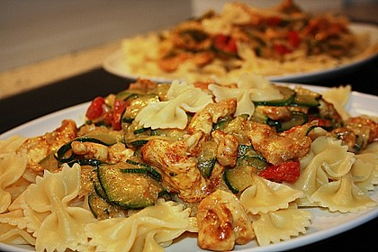 Urmelis Hähnchenbrust in Zucchini - Curry - Sahne - Sauce 9
