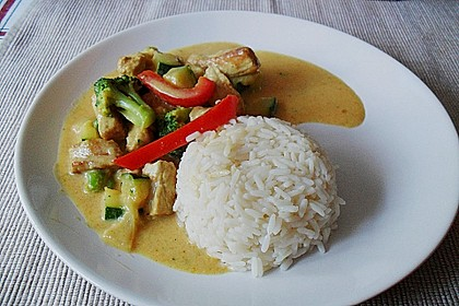 Urmelis Hähnchenbrust in Zucchini - Curry - Sahne - Sauce 10