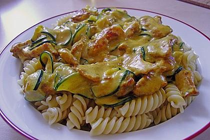 Urmelis Hähnchenbrust in Zucchini - Curry - Sahne - Sauce 8
