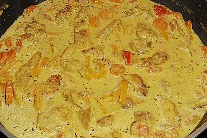 Urmelis Hähnchenbrust in Zucchini - Curry - Sahne - Sauce 53