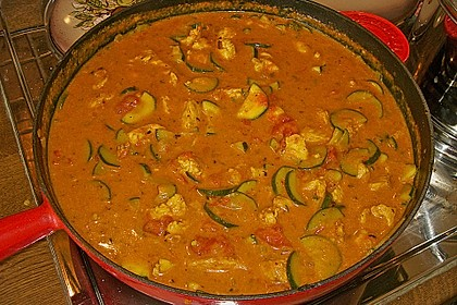 Urmelis Hähnchenbrust in Zucchini - Curry - Sahne - Sauce 49