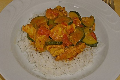 Urmelis Hähnchenbrust in Zucchini - Curry - Sahne - Sauce 22