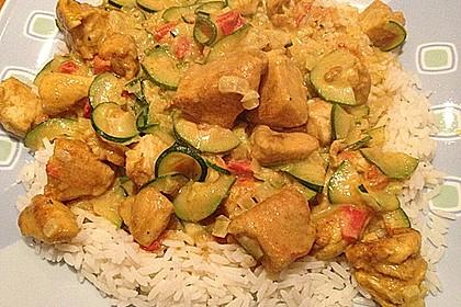 Urmelis Hähnchenbrust in Zucchini - Curry - Sahne - Sauce 6
