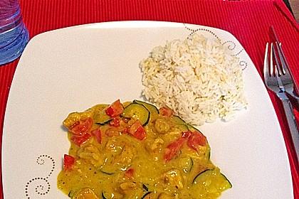 Urmelis Hähnchenbrust in Zucchini - Curry - Sahne - Sauce 20