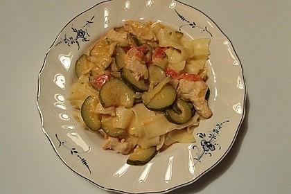 Urmelis Hähnchenbrust in Zucchini - Curry - Sahne - Sauce 27