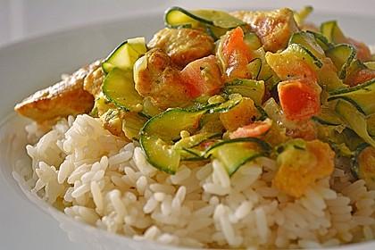 Urmelis Hähnchenbrust in Zucchini - Curry - Sahne - Sauce 5