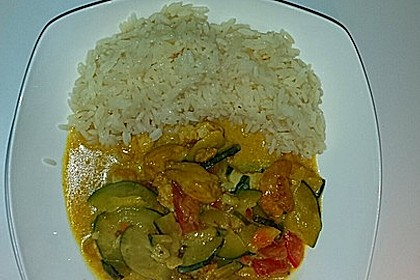 Urmelis Hähnchenbrust in Zucchini - Curry - Sahne - Sauce 12