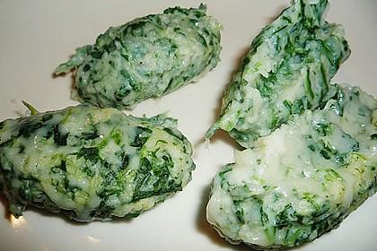 Spinat - Käse - Nocken 4