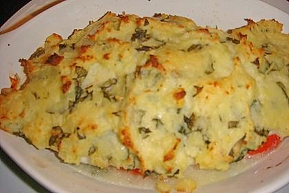 Fischfilet mit Kartofffel - Kräuter - Kruste 26