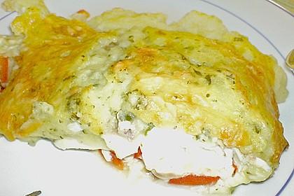 Fischfilet mit Kartofffel - Kräuter - Kruste 24