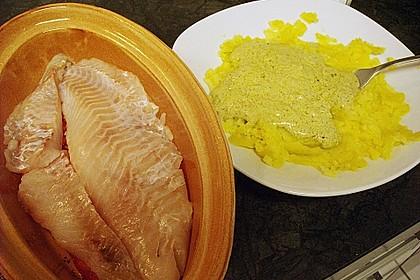 Fischfilet mit Kartofffel - Kräuter - Kruste 30