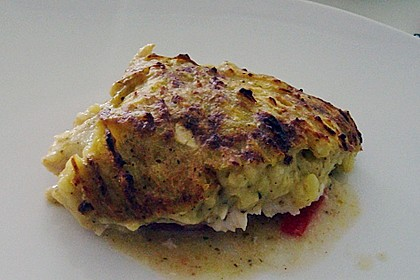 Fischfilet mit Kartofffel - Kräuter - Kruste 11