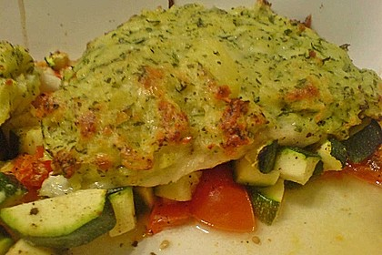 Fischfilet mit Kartofffel - Kräuter - Kruste 16