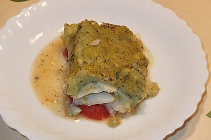 Fischfilet mit Kartofffel - Kräuter - Kruste 6