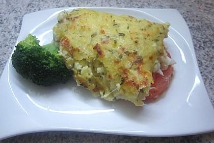 Fischfilet mit Kartofffel - Kräuter - Kruste 5