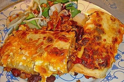 Überbackene Enchiladas mit Avocado-Dip 4