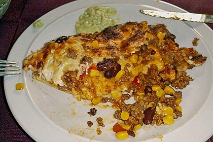 Überbackene Enchiladas mit Avocado-Dip 22