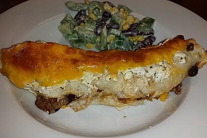 Überbackene Enchiladas mit Avocado-Dip 12