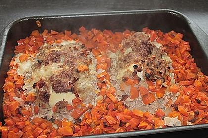 Falscher Hase mit glacierten Möhren und Spätzle 20